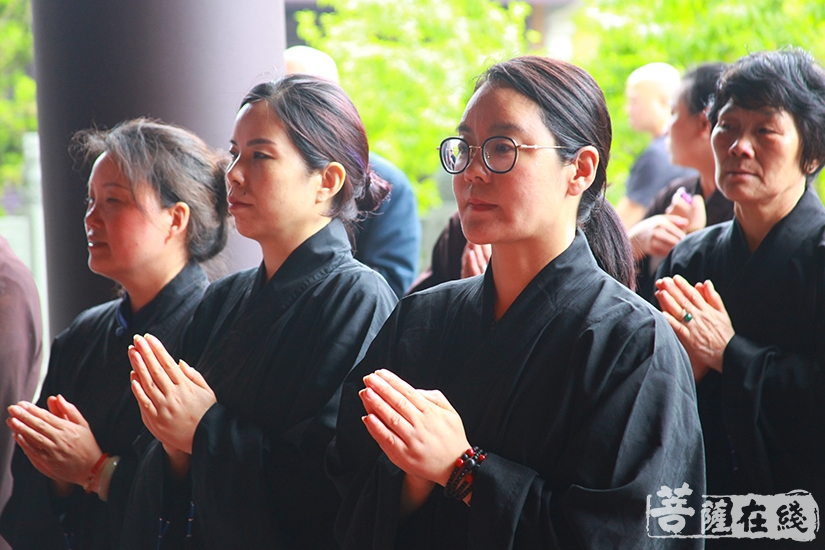 四众弟子合掌礼赞(图片来源:菩萨在线 摄影:慧德)