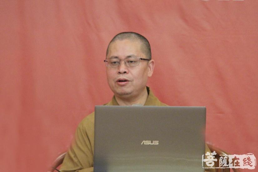 净因大和尚为学员带来最后一课——《六祖坛经》的创新思维(图片来源:菩萨在线 摄影:妙澄)