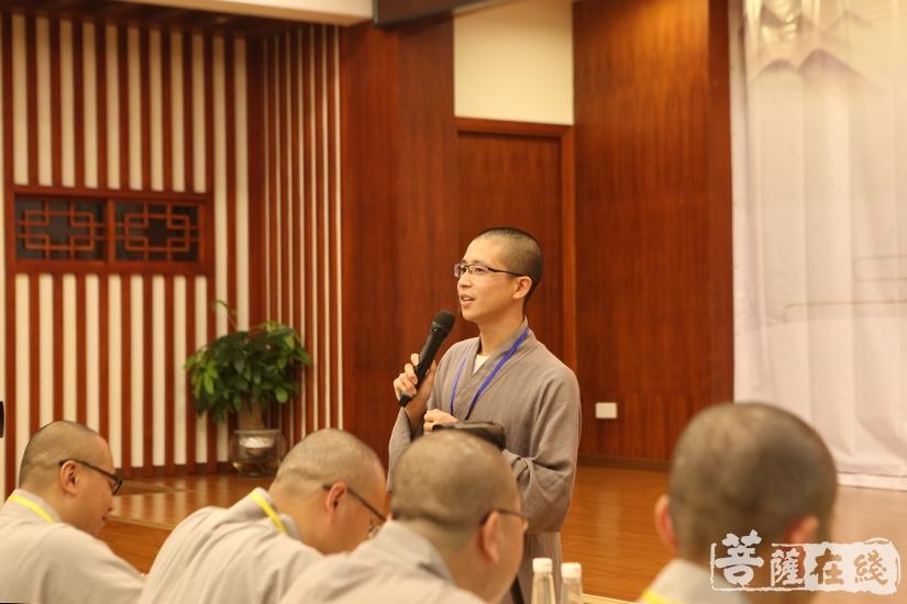 宗敬法师:茶道活动需要遵循一定的礼法进行(图片来源:菩萨在线 摄影:妙月)