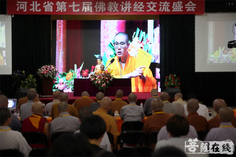 河北省第七届佛教讲经交流会(图片来源:菩萨在线 摄影:妙雨)