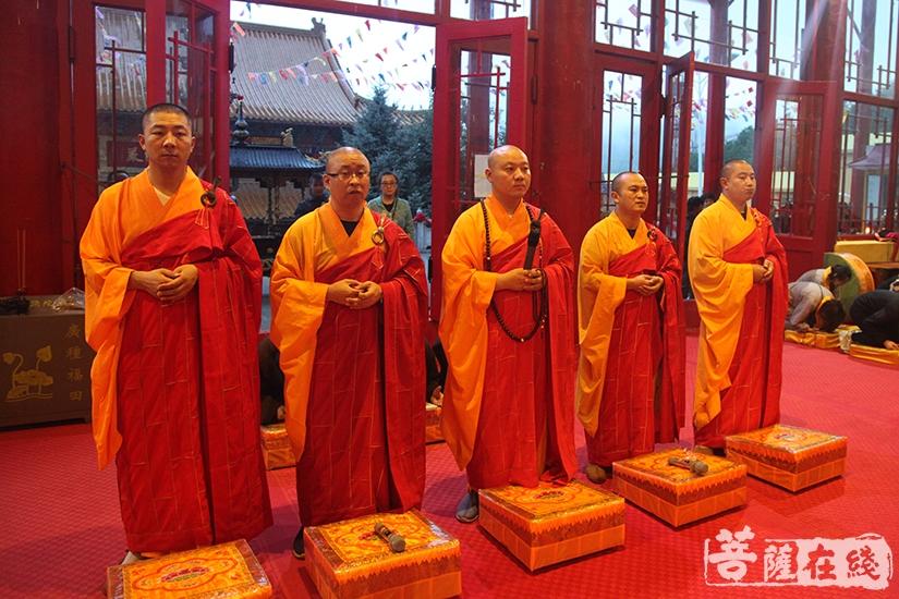 五位金刚上师(图片来源:菩萨在线 摄影:慧德)