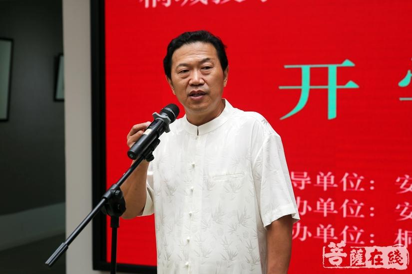 授课教师刘怀勇教授对学员们予以期望(图片来源:菩萨在线 摄影:妙雨)