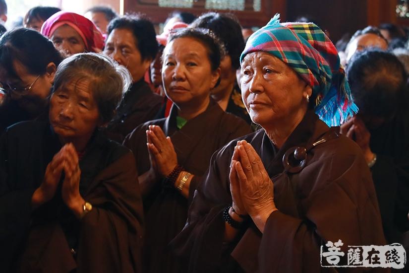 共同祈福(图片来源:菩萨在线 摄影:妙月)