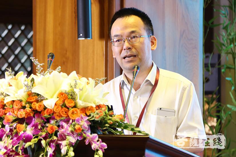 中国人民大学教授宣方发言(图片来源:菩萨在线 摄影:果仁)