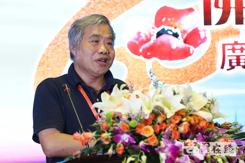 西南大学教授杨玉辉对论坛发言进行了总结(图片来源:菩萨在线 摄影:妙清)