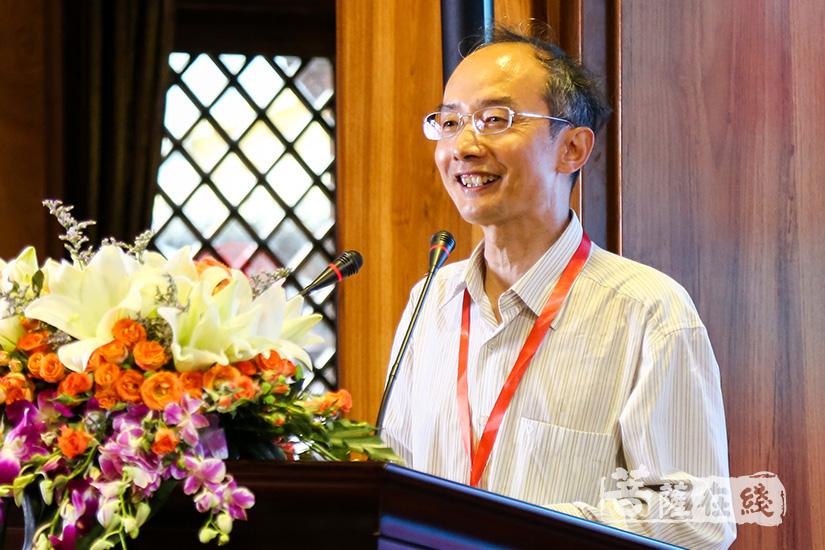北京师范大学教授徐文明发言(图片来源:菩萨在线 摄影:果仁)