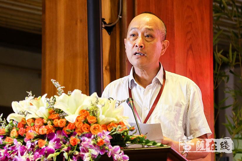 华南农业大学教授何方耀致辞(图片来源:菩萨在线 摄影:果仁)