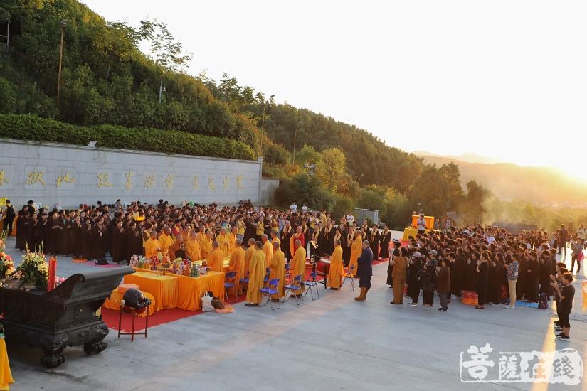 大蒙山施食法会(图片来源:菩萨在线 摄影:妙澄)