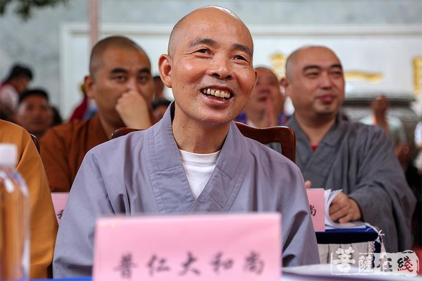 江苏省佛教协会副会长、苏州市佛教协会会长普仁法师(图片来源:菩萨在线 摄影:果仁)