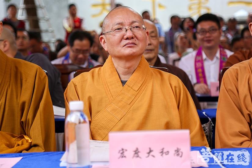 江苏省佛教协会副会长、苏州市佛教协会副会长宏度法师(图片来源:菩萨在线 摄影:果仁)