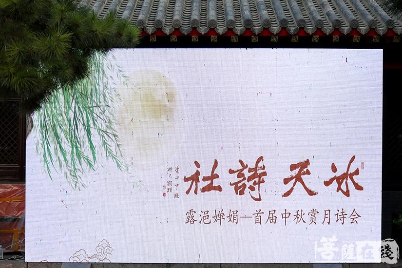 露浥婵娟——冰天诗社首届赏月诗会于沈阳慈恩寺举行(图片来源:菩萨在线 摄影:果仁)
