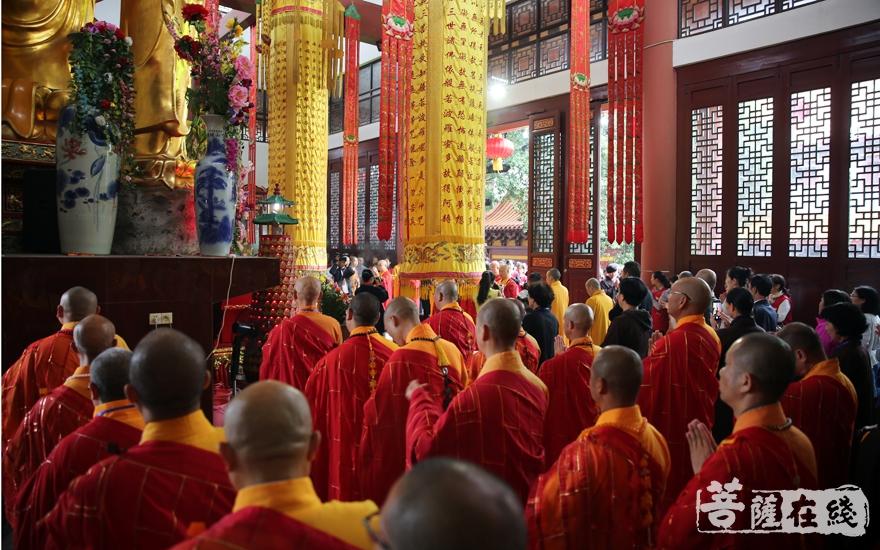 共襄盛举(图片来源:菩萨在线 摄影:妙雨)