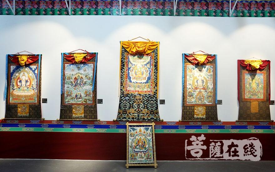 藏族唐卡艺术展(图片来源:菩萨在线 摄影:妙梵)