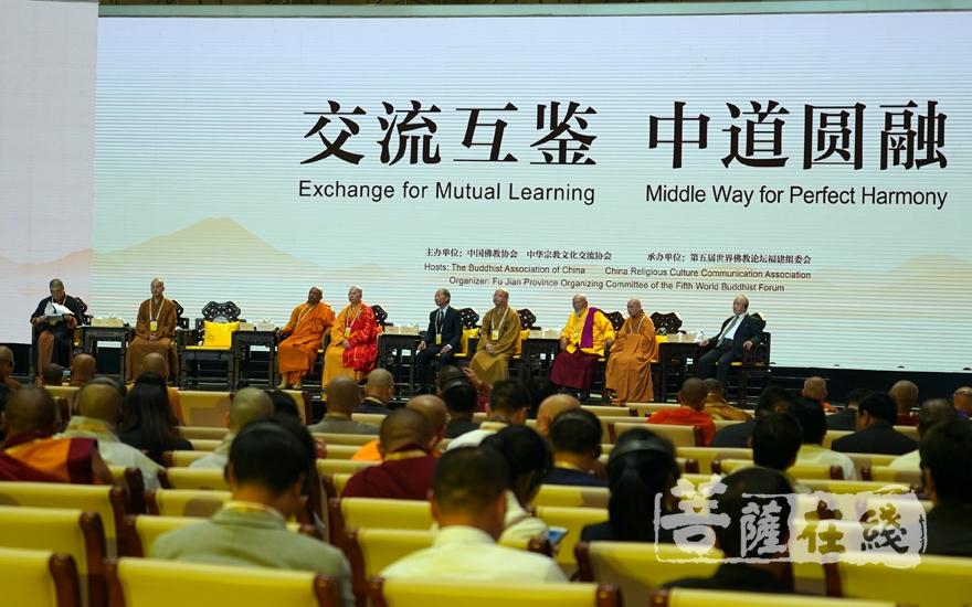 第五届世界佛教论坛第二场大会发言(图片来源:菩萨在线 摄影:妙雨)