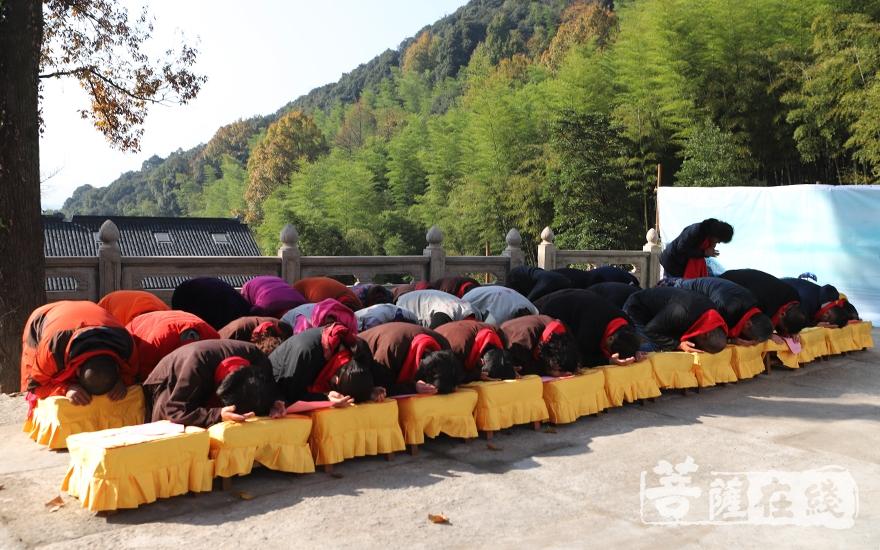 虔诚跪拜(图片来源:菩萨在线 摄影:妙言)