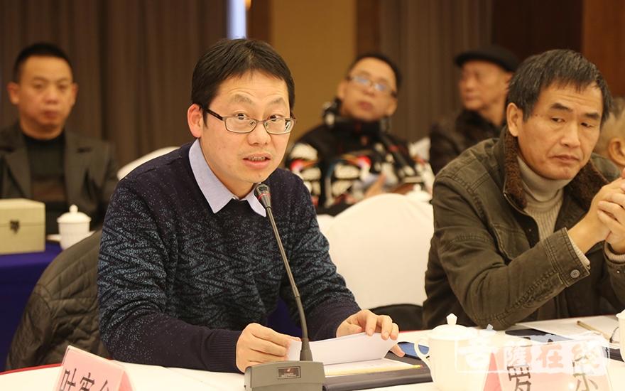 上海云泰生物科技有限公司董事长罗乐阐述与佛教结缘的因缘(图片来源:菩萨在线 摄影:妙澄)