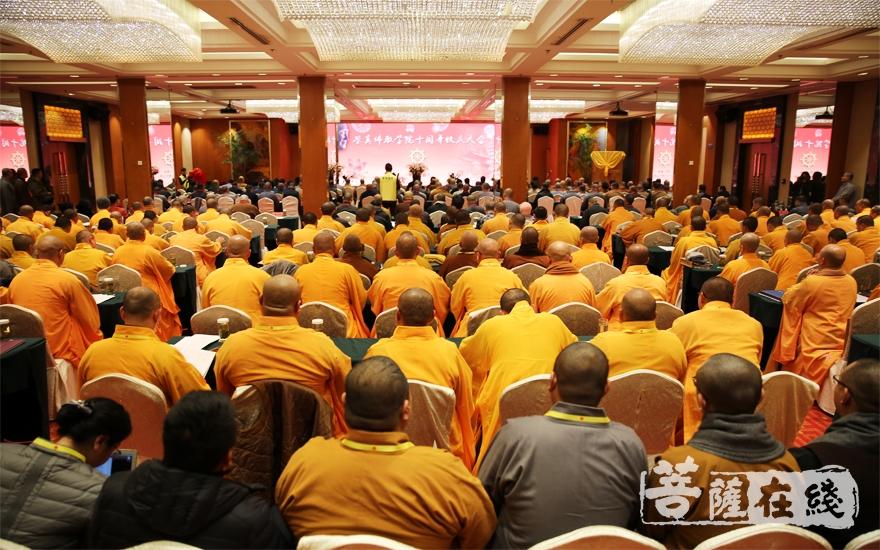 鉴真佛教学院建校十周年校庆活动(图片来源:菩萨在线 摄影:妙雨)