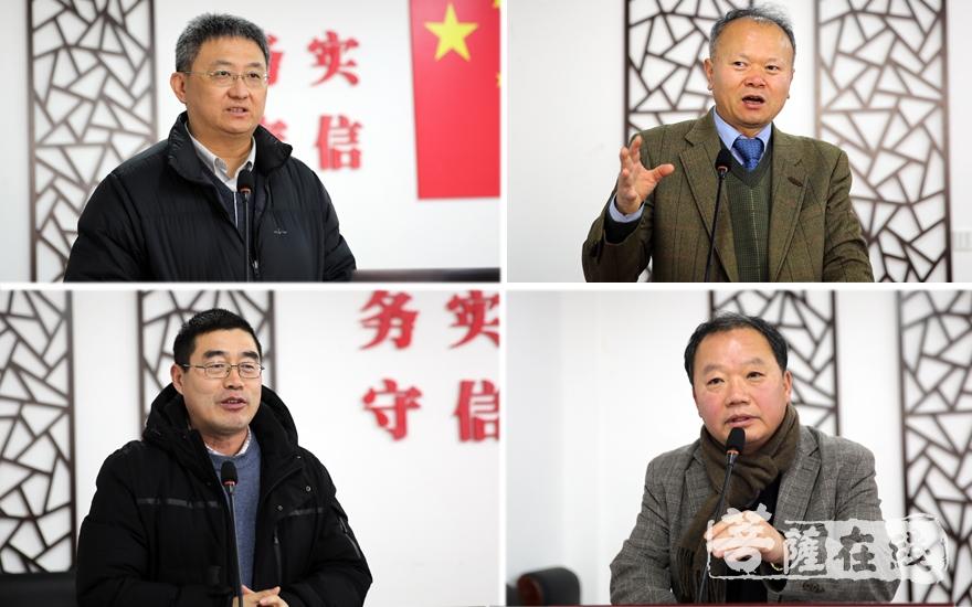 黄连忠、崔锡焕、韩焕忠、金邦龙发表论坛演讲(图片来源:菩萨在线 摄影:妙雨)