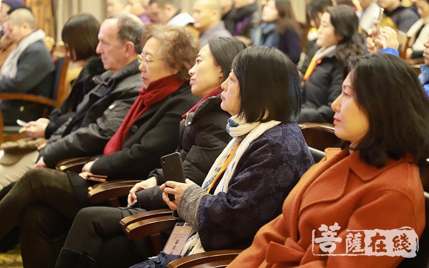 知名书画界、音乐艺术界专家学者出席盛会(图片来源:菩萨在线 摄影:妙澄)