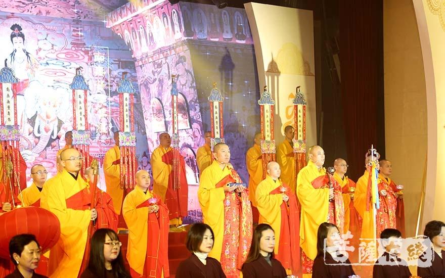 玉佛禅寺梵乐团(图片来源:菩萨在线 摄影:妙清)