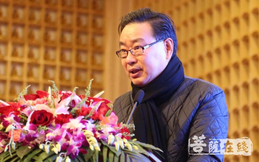 普陀区政协主席钱城乡致辞(图片来源:菩萨在线 摄影:妙清)