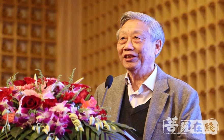 陈家泠先生介绍此次佛教艺术馆创建缘起(图片来源:菩萨在线 摄影:妙清)