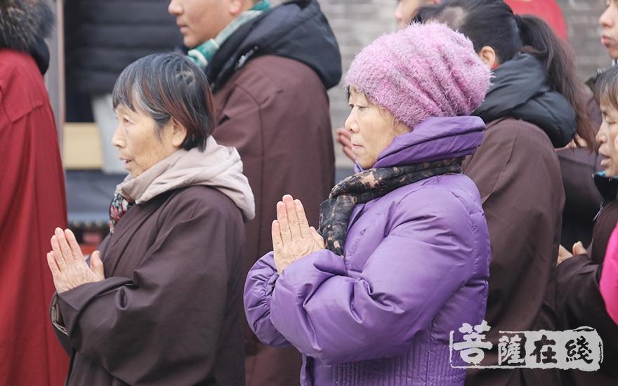 虔诚合十(图片来源:菩萨在线 摄影:妙月)