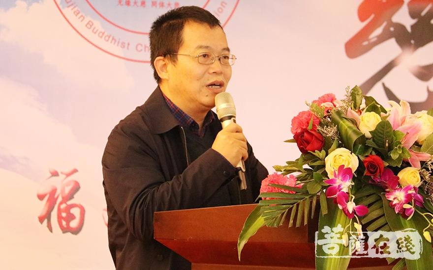 福建省民宗厅一处处长张忠发提出三点要求(图片来源:菩萨在线 摄影:妙月)