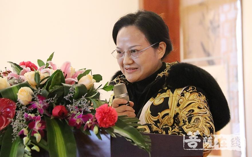 会员代表杨敏文致辞(图片来源:菩萨在线 摄影:妙月)