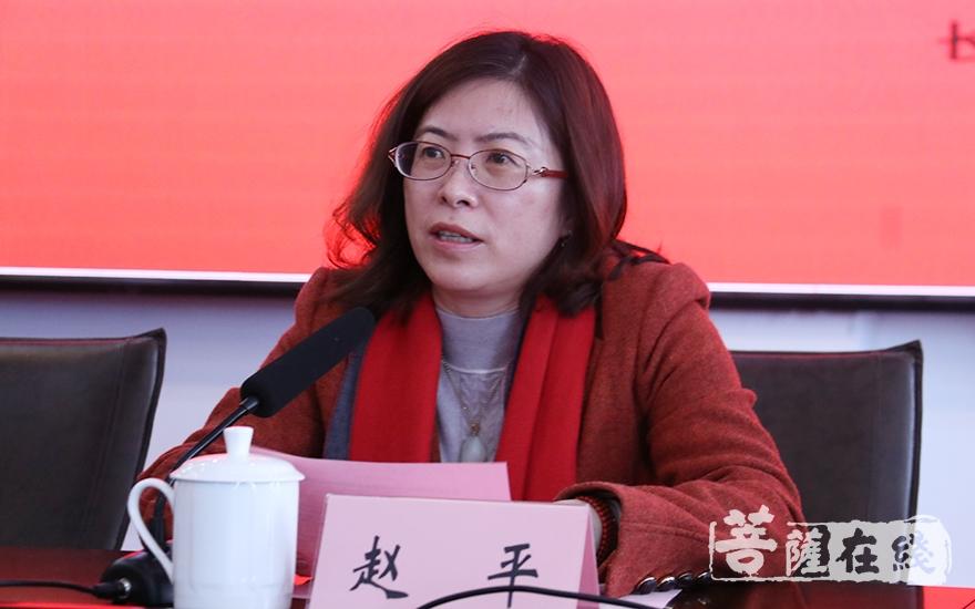 长寿路街道党工委副书记、办事处主任赵平致辞(图片来源:菩萨在线 摄影:妙月)