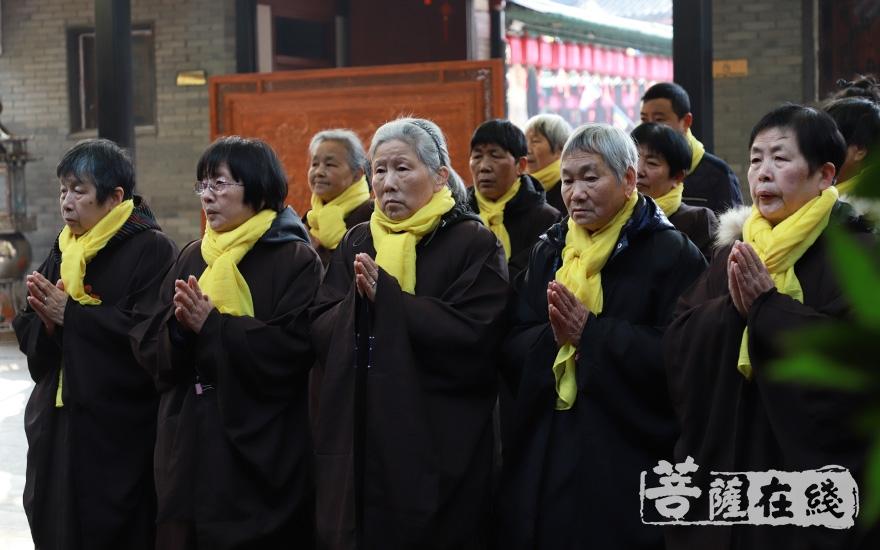 虔诚诵经(图片来源:菩萨在线 摄影:妙澄)
