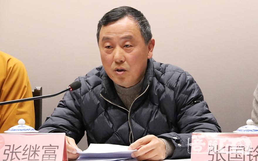 张继富调研员对青浦区佛教事业在新时代的新发展提出了殷切期望(图片来源:菩萨在线 摄影:妙月)