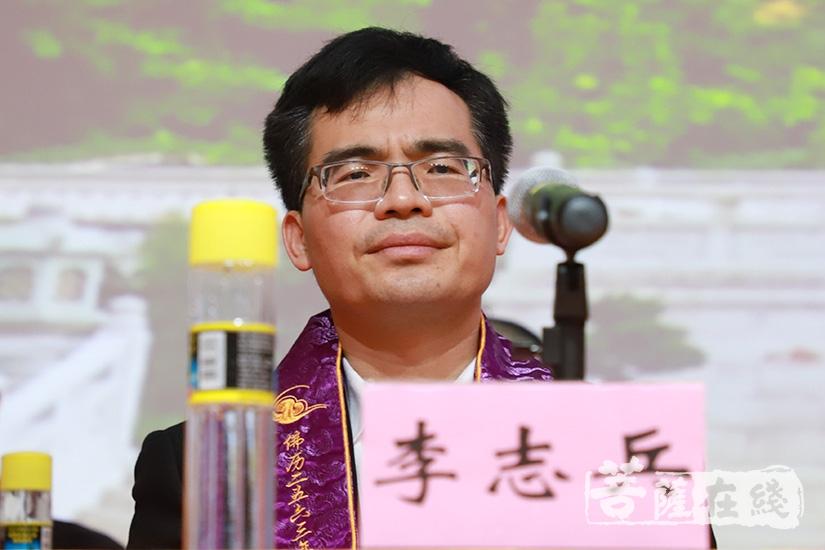 韶关市政府副秘书长李志兵致辞(图片来源:菩萨在线 摄影:妙澄)