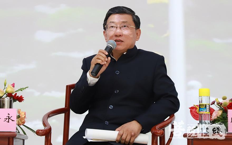 原国家宗教局副局长蒋坚永:交流是双向的(图片来源:菩萨在线 摄影:妙澄)