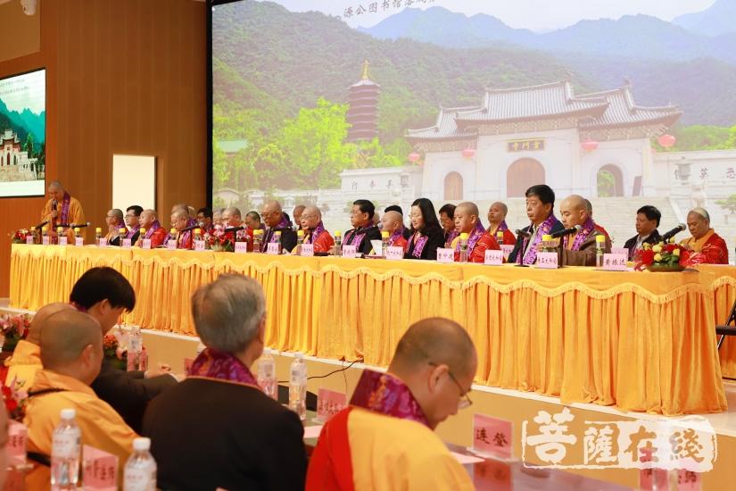 佛源老和尚圆寂十周年暨诞辰九十七周年纪念大会(图片来源:菩萨在线 摄影:妙澄)