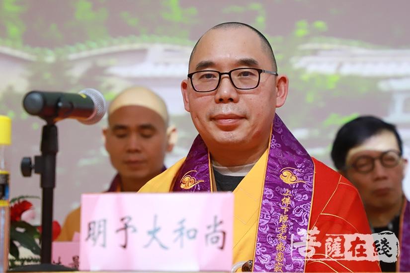 海外佛教界代表明予大和尚致辞(图片来源:菩萨在线 摄影:妙甜)
