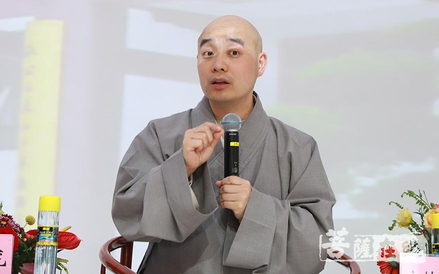 """宗性大和尚:""""佛教中国化""""永远在路上(图片来源:菩萨在线 摄影:妙甜)"""
