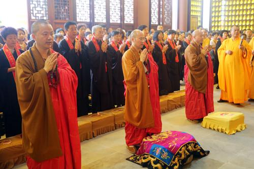 上海隆庆寺举行三期工程祈福奠基法会