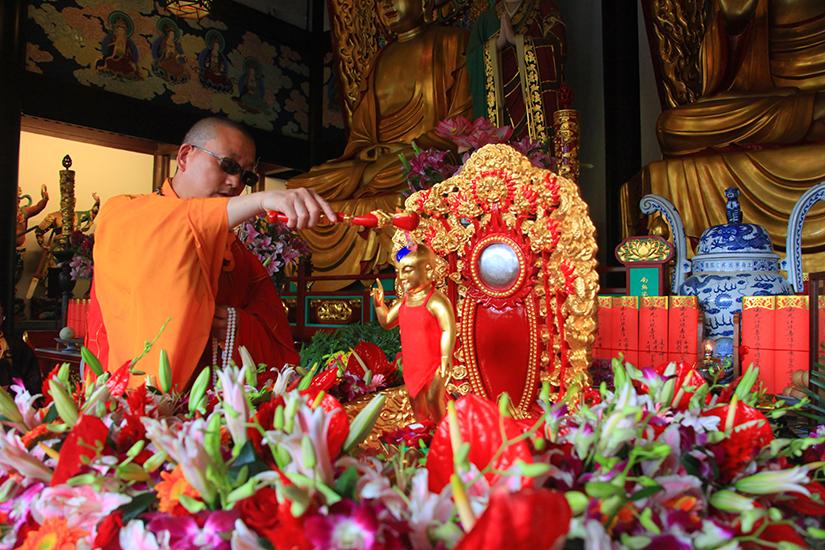 【高清图集】恭迎释迦牟尼佛圣诞日 宁国禅寺两序大众共渡浴佛节