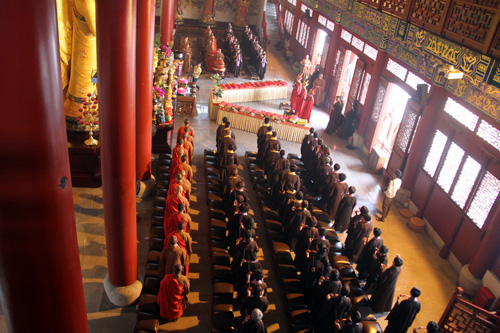 恭送诸佛 回向众生 会稽山龙华寺水陆法会之圆满送圣仪式