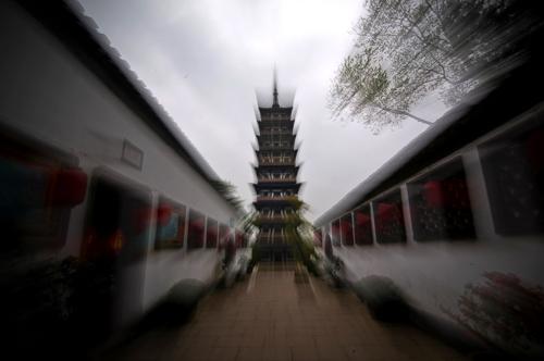 南京方山定林寺塔为世界第一斜塔 距今已有1500多年