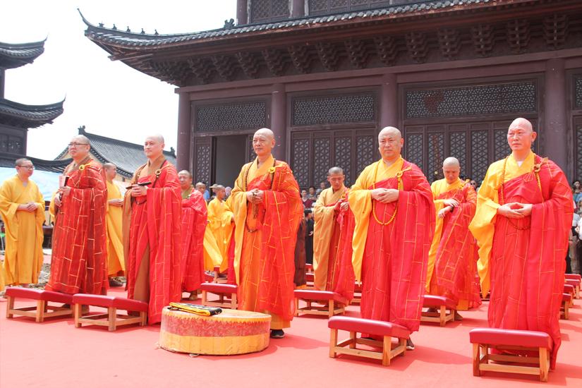 【高清图集】古刹重光 普沾法益 海门天佛寺举行大雄宝殿奠基仪式