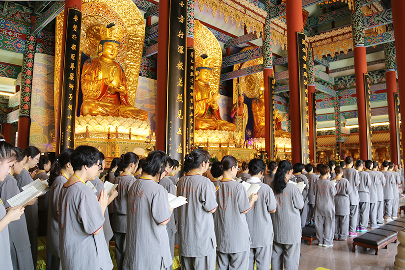 【高清图集】共修大悲功德法会 领略中国禅茶文化