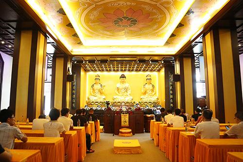 【高清图集】弘扬传统 景严法师和寂光法师应邀于福慧寺作佛学讲座