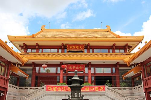 上海七宝教寺举行中峰三时系念法会