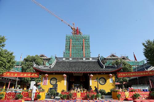 上海天光禅寺塔刹安奉仪式圆满