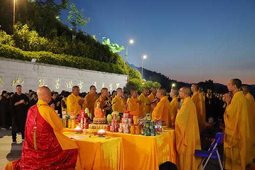地藏菩萨圣诞 九华山大愿文化园举行祈福法会