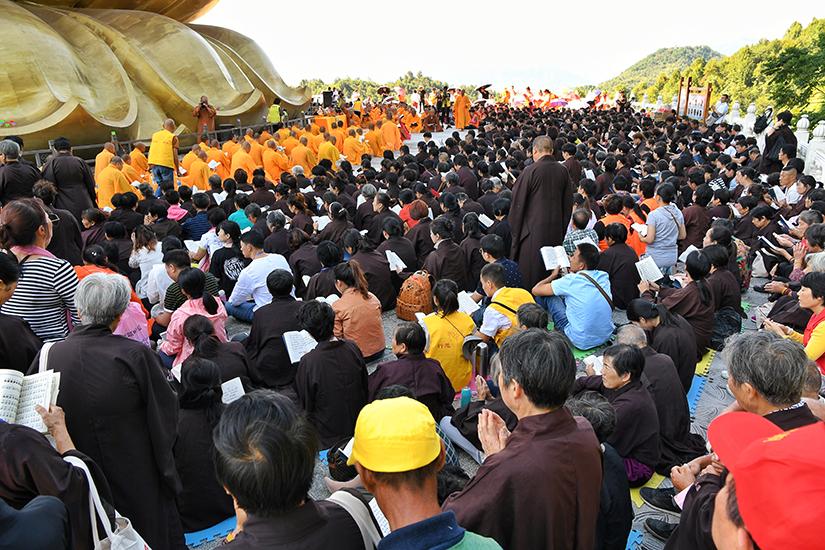 【高清图集】地藏菩萨圣诞 九华山大愿文化园举行祈福法会