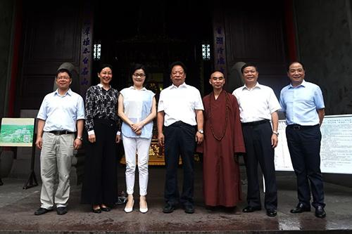 宁波市政协主席杨戌标走访天童禅寺