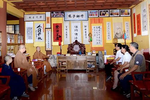 龙口南山禅寺管理委员会走访烟台各寺院场所
